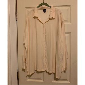Eileen Fisher Button Down Silk Blouse